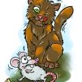 Złapana myszka